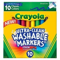 Crayola Ultra-Clean Washable 10ct Markers - ColorMax Multicolor