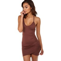 Plum Hooked On You Wrap Dress