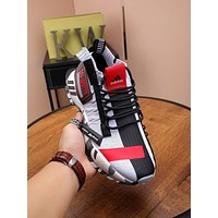 ADIDAS OFF-VHITO Men Fashion Boots fashionable Casual leather Breathable Sneakers Running Shoes