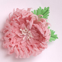 Pink Brooch, Pink Fabric Flower, Pink Flower Pin, Pink Fabric Brooch for Women, Bridesmaids, Weddings, Romantic