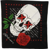 Chainsmokers Skull Bandana Black