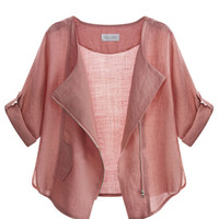 Rose Pink Lightweight Jacket