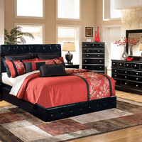 Marcus Collection Queen Upholstered bed by HD furniture