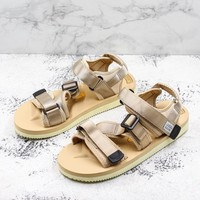 Suicoke Brown KISEE-V Vibram Sole Antibacterial Upper Slipper Slider Sandals - Best Deal Online