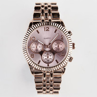 Roman Numeral Watch Rose Gold One Size For Women 23653138101