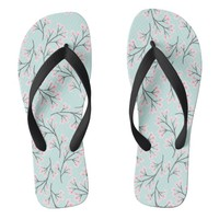 cherry blossom duck egg flip flops | Zazzle.co.uk