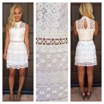 Tea Party Lace Dress - IVORY
