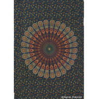 Twin Size Multicolor Mandala Dorm Tapestry Wall Hanging Bed Cover