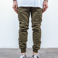 Olive Twill | Sunset Jogger