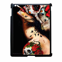 Floral Sugar Skull Tattooed iPad 4 Case