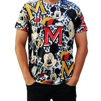 Disney Men's All Over Mickey Mouse 2015 T-Shirt