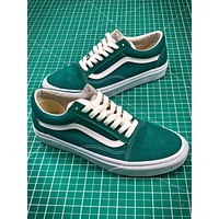 Vans Old Skool Green White Canvas Shoes