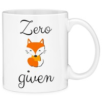 Zero Fox Given Funny Novelty Coffee Mug Cup with Gift Box
