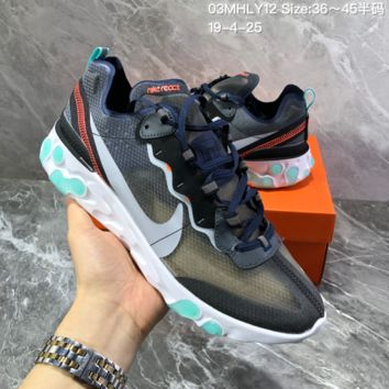 HCXX N1464 Nike Epic React Element 87-Undercover Mesh Fashion Running Shoes Mint Green