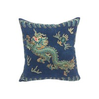Embroidered Opera Robe Fragment Pillow