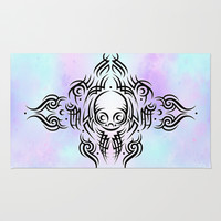 Alien Tribal Tattoo Rug by Chobopop