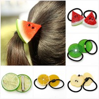 1Pc Fruit Slice Multi-Patterns Girl Women Elastic Rubber Bands Hair Clips Headwear Tie Gum Holder Rope Hairpins Hair Accessories