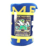 "Notre Dame Fleece Blanket (Measures Approximately 50"" x 60"")"