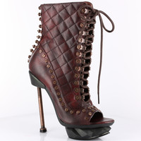 Hades IXX Quilted Ankle Boot Burgundy