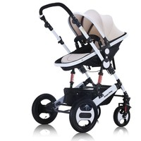 2018 New design high viewpoint Luxury baby stroller sit and lie 2 in 1, four wheels single seat baby infant carriage stroller