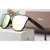 Dior Women Fashion Popular Summer Sun Shades Eyeglasses Glasses Sunglasses Pink+Black G-A-SDYJ