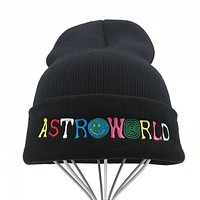 Best Seller Knitted Hat ASTROWORLD Beanie embroidery Ski Warm Winter