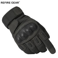 ReFire Gear Military Equipment Outdoor Hiking Gloves Men US Army Soldiers Paintball Combat Glove Male Full Finger Tactical Glove