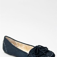 Soda PARRY Casual Comfortable Tribal Fringe Slip On faux Suede Flat Moccasin Shoe