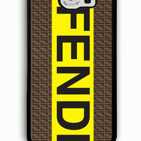 Samsung Galaxy S6 Case - Rubber (TPU) Cover with fendi logo Rubber case Design