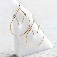 Crystal Ball Hoop Earring