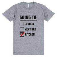 I'm Going To...the Kitchen!-Unisex Athletic Grey T-Shirt