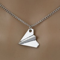 Air Plane Choker Necklace Silver Plane 1 Direction Necklace