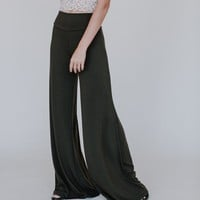Love Me Wide Leg Pants - Olive