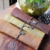 Fashion Trend Vintage Map Printing Rolling Cosmetic Bag For Women And children