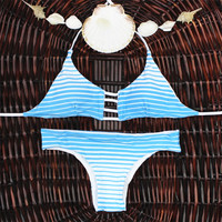 Bandage Swimsuit Swimwear Bathing Suit Vintage Bikini Set