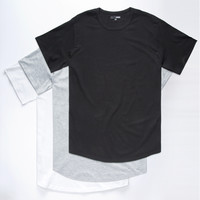 Elwood 3 Pack Curved Hem Mens Tees Multi  In Sizes