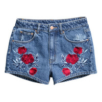 H&M Embroidered Denim Shorts $29.99