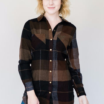 Flannel Snap Down Tunic