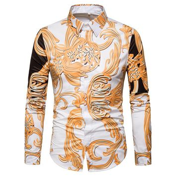 3D Vintage Print ~ Long-Sleeved Shirt