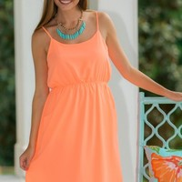 EVERLY:Standard Of Perfection Dress-Neon Orange