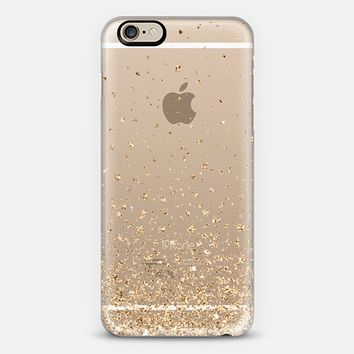 Gold Stars Rain Transparent iPhone 6 case by Organic Saturation   Casetify