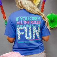 Jadelynn Brooke: If You Obey All the Rules, You Miss All the Fun {Flo Blue} - Size LARGE