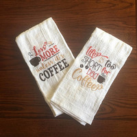 coffee themed kitchen towels