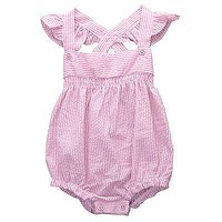 born Romper Baby Girls Sleeveless Cross back Clothes Outfits