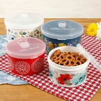 The Pioneer Woman Flea Market Round Food Containers, Set of 4 - Walmart.com