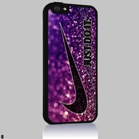 Just Do It Nike Look Like Purple Glitter for Iphone 4/4s 5 5c 6 6plus Case (iphone 6 black)