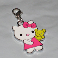 AUGUST SALES  Hello Kitty Holding Bear Charm by CharmCreativity