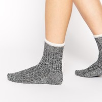 ASOS Mix Knit Tipped Ankle Socks