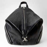 FOREVER 21 Pebbled Zip-Front Backpack