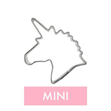 Mini Unicorn Head Cookie Cutter